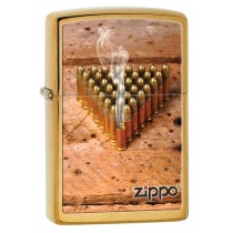 Zippo  Tulemasin Bullets Brushed Brass