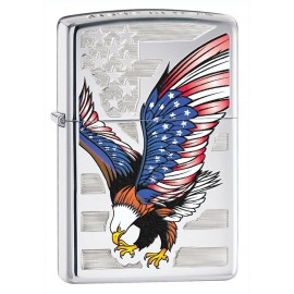 Zippo Tulemasin USA Flag and Eagle