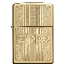 Zippo Tulemasin High Polish Brass Pattern